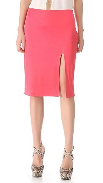 Olcay Gulsen Front Slit Skirt