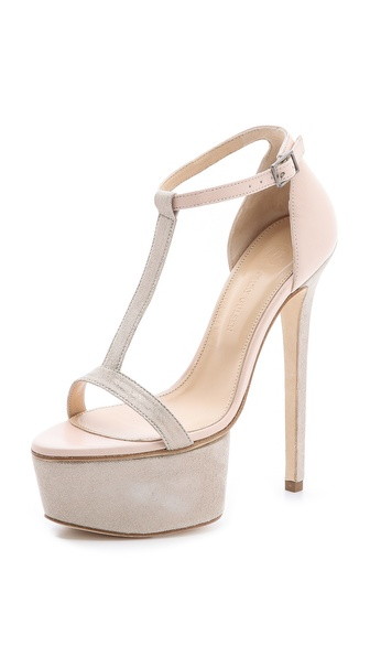 Olcay Gulsen T Strap Platform Heels