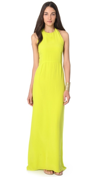 Olcay Gulsen Halter Top Maxi Dress
