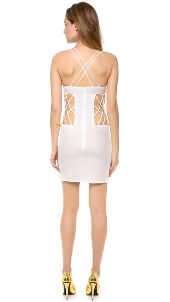 Olcay Gulsen Sleeveless Open Side Mini Dress