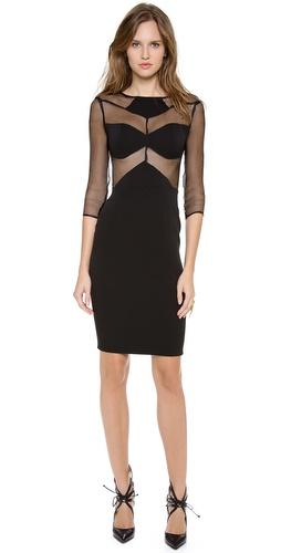 Olcay Gulsen Long Sleeve Cocktail Dress