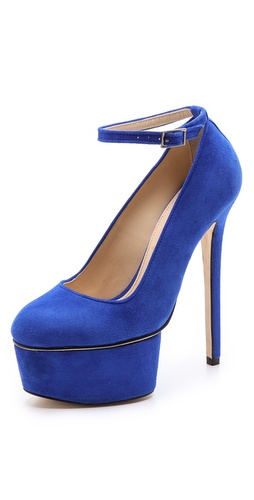 Olcay Gulsen Extreme Platform Pumps with Ankle Strap at Shopbop / East Dane