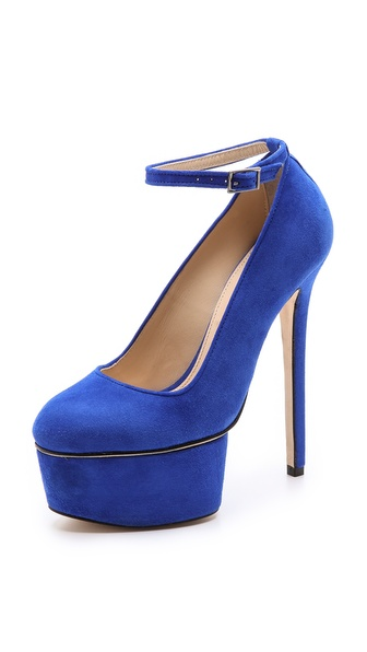 Olcay Gulsen Extreme Platform Pumps with Ankle Strap