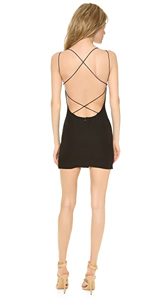 Shop Olcay Gulsen online and buy Olcay Gulsen Cross Back Mini Dress - Black online