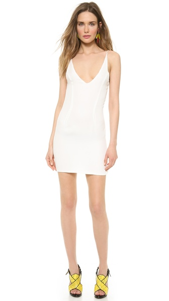 Shop Olcay Gulsen online and buy Olcay Gulsen Cross Back Mini Dress White online