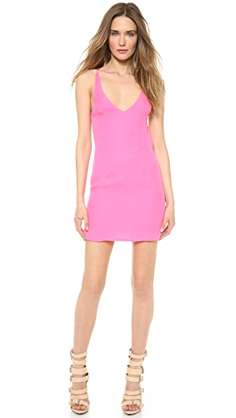 Shop Olcay Gulsen online and buy Olcay Gulsen Cross Back Mini Dress - Hot Pink online