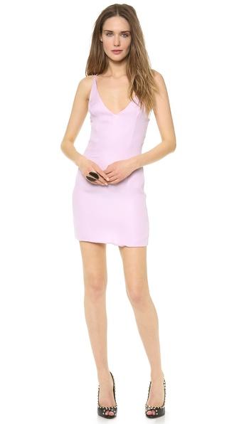 Shop Olcay Gulsen online and buy Olcay Gulsen Cross Back Mini Dress Lilac online