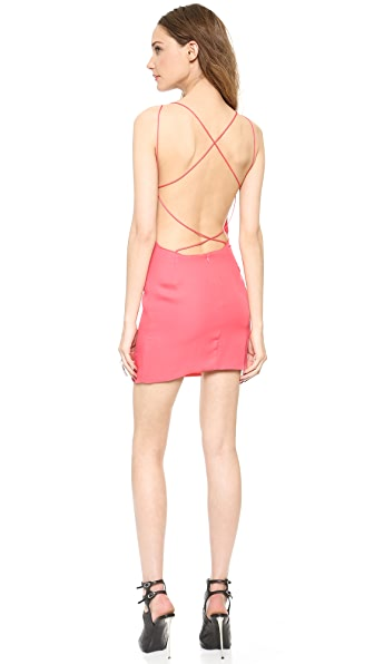 Shop Olcay Gulsen online and buy Olcay Gulsen Cross Back Mini Dress - Blush Pink online