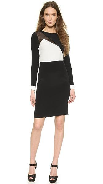 Shop Olcay Gulsen online and buy Olcay Gulsen Long Sleeved Mesh Dress Black/White online