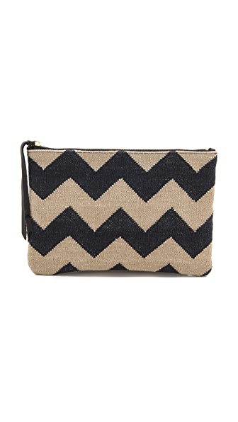 Oliveve Queenie Chevron Vintage Carpet Clutch