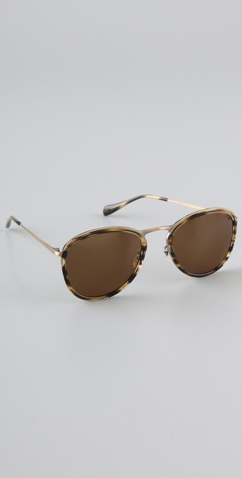 Oliver Peoples Eyewear Polarized J Gold Sunglasses
