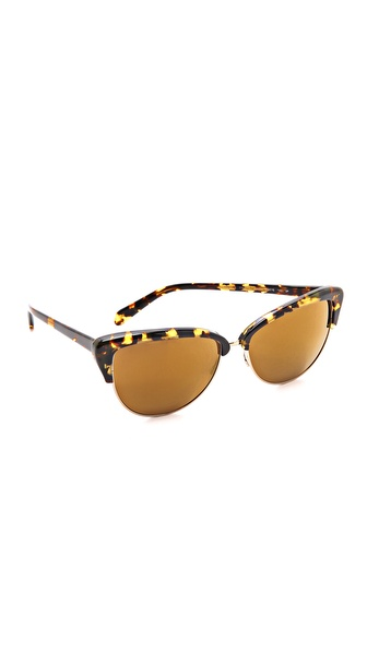 Oliver Peoples Eyewear Alisha Mirrored Polarized Sunglasses