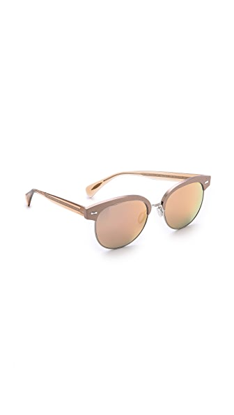 Oliver Peoples Oliver Peoples Shaelie Mirrored Sunglasses (Maroon)