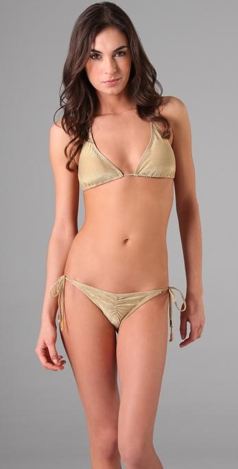 OndadeMar Solid String Bikini Top