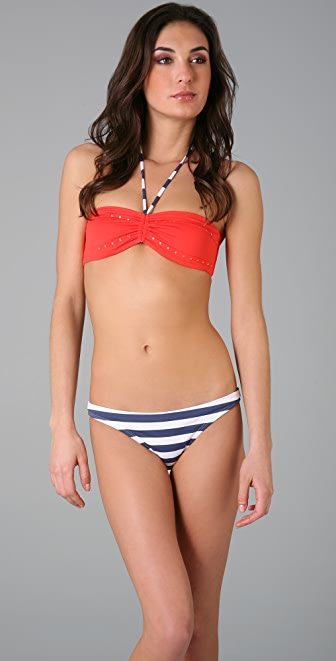 OndadeMar Red Bandeau Bikini Top
