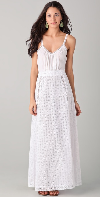 OndadeMar Chic Areia Embroidered Maxi Cover Up Dress
