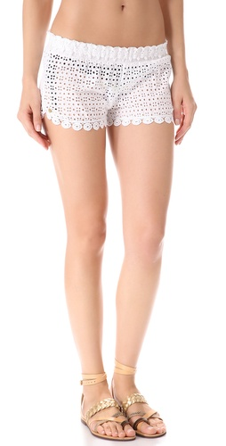 OndadeMar Sea of White Cover Up Shorts