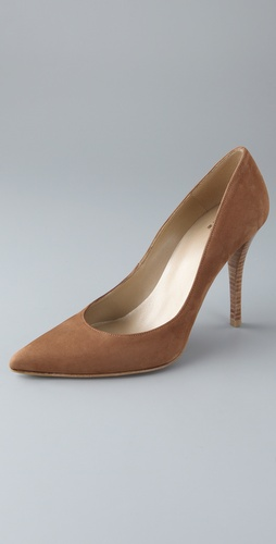 ONE by Stuart Weitzman Naughty Suede Pointed Toe Pumps