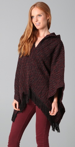 ONE by Love Sam Fringe Poncho