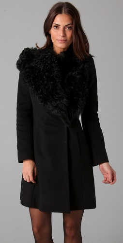 ONE by Nonoo Cosima Shearling Collar Jacket