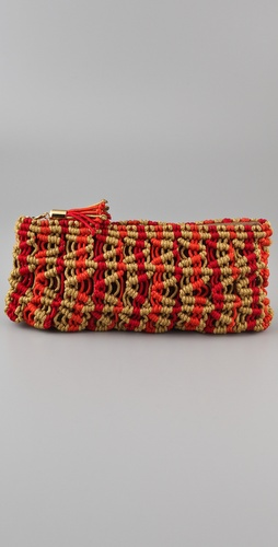 ONE by Meredith Wendell Twisted Ruby Clutch