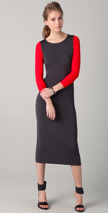 ONE by Maggie Ward Colorblock Jersey Midi Dress