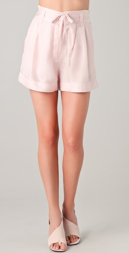 ONE by Theonne Draped Shorts
