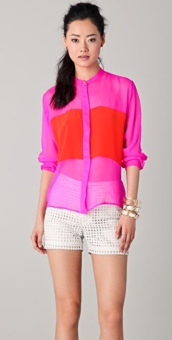 ONE by Naven Colorblock Blouse