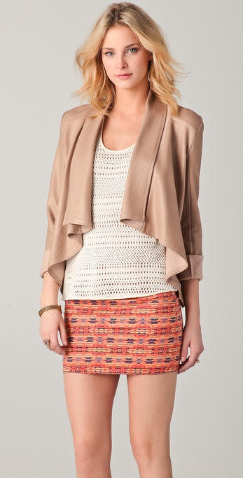 ONE by Krisa Coated Drape Jacket