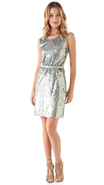 ONE by Erin Fetherston Sequined Sheath Dress