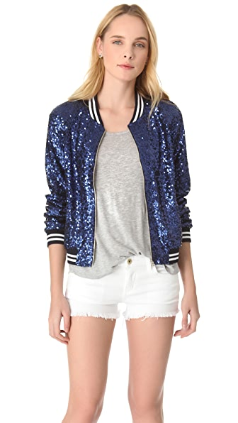 ONE by Maloom Blue Sequins Jacket