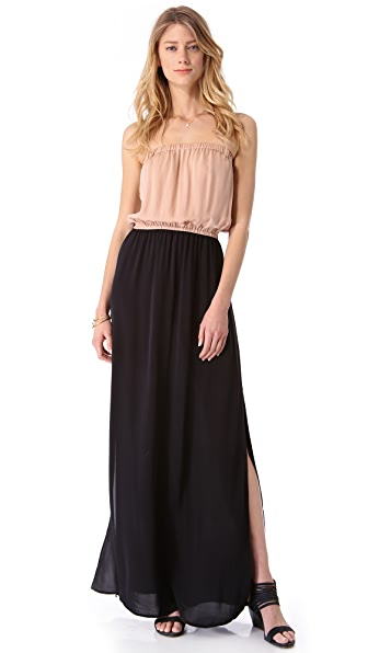ONE by Chelsea Flower Combo Strapless Maxi Dress