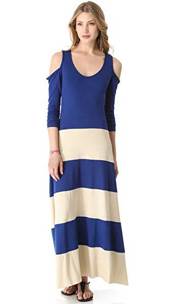 ONE by Karina Grimaldi Open Shoulder Maxi Dress