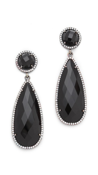 ONE by Susan Hanover Crown Double Drop Earrings