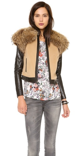 ONE by Fur Trim Jacket