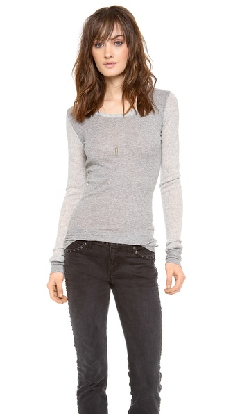 ONE by Suss Alida Scoop Neck Top
