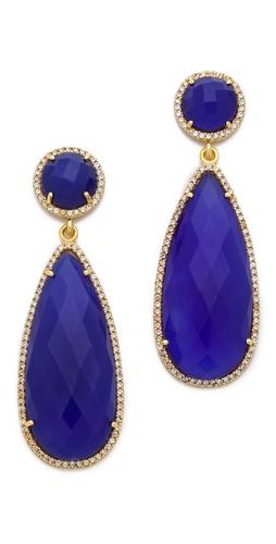 ONE by Crown Stone Drop Earrings