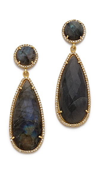 ONE by Susan Hanover Crown Stone Drop Earrings
