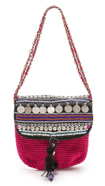 Kupi ONE by Elliot Mann tasnu online i raspordaja za kupiti Description Elliot Mann , selected for Shopbops ONE by collection for its whimsical, eclectic spirit. ONE by is home to exceptional pieces from established and emerging designers. Beads, coins, and pom poms lend a playful touch to this petite, crocheted handbag. A snap closes the flap, and a zip opens to the lined interior with 1 pocket. The interwoven chain strap can be carried long or doubled. Weight: 26oz / 0.74kg. Imported, Thailand. MEASUREMENTS Height: 8in / 20cm Length: 9.5in / 24cm Depth: 1.5in / 4cm Strap drop: 17in / 43cm. Available sizes: One Size