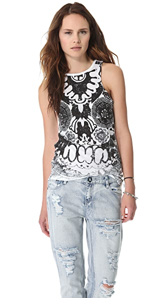 One Teaspoon Skull Lace Ryder Tank
