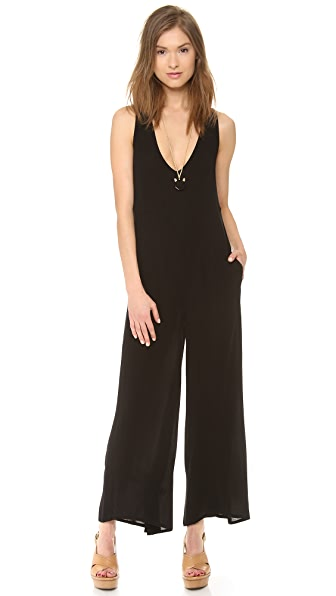One Teaspoon Black Jack Maxi Jumpsuit