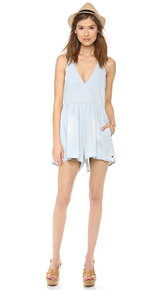 One Teaspoon Silver Rebel Romper