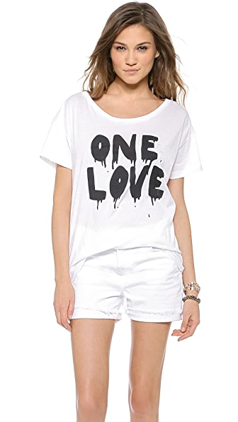 One Teaspoon One Love Abbey Tee