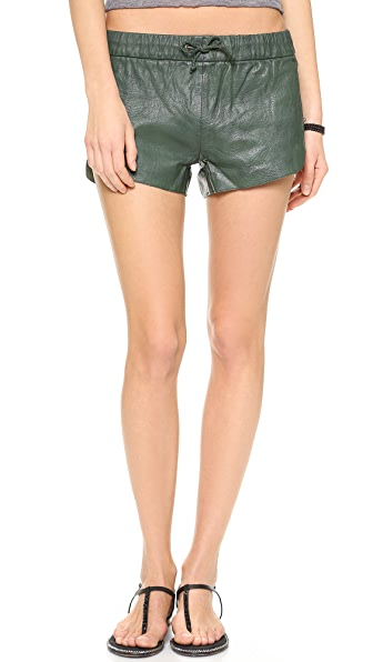 Shopbop One Teaspoon Shorts One Teaspoon Daddycool Leather
