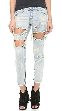 One Teaspoon Dirt Trashed Freebird Jeans