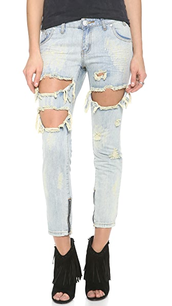One Teaspoon Dirt Trashed Freebird Jeans