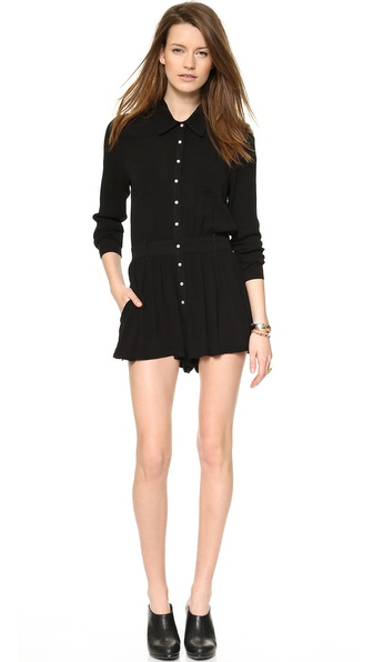 One Teaspoon Black Jack Long Sleeve Romper