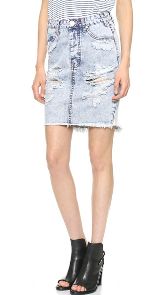 One Teaspoon Le Hunt Skirt