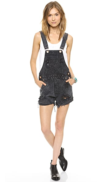 One Teaspoon Le Hawk Super Freak Overalls