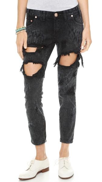 One Teaspoon Le Hawk Trashed Jeans